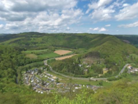 Panorama der Umgebung vom Hotel Dreimäderlhaus in der Eifel, Sommer 5